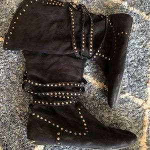🌿3 for $20 • Not Rated Studded Slouchy Flat Boots